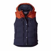 Patagonia Bivy Hooded Womens Vest, Navy Blue, medium