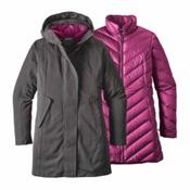 Patagonia Tres 3-in-1 Parka Womens Jacket, Forge Grey-Megenta, medium