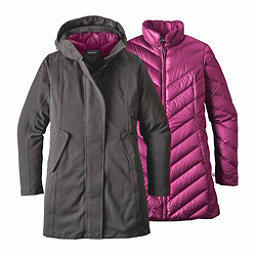 Patagonia Tres 3-in-1 Parka Womens Jacket, Forge Grey-Megenta, 256