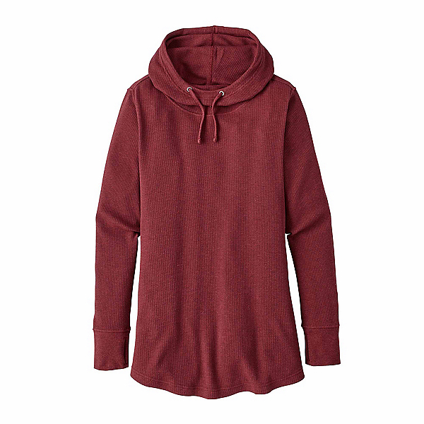 Patagonia Waffle Tunic Womens Hoodie, Drumfire Red, 600