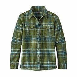 Patagonia Long Sleeved Fjord Womens Flannel Shirt, Big Sky Plaid-Buffalo Green, 256