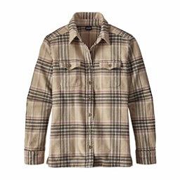 Patagonia Long Sleeved Fjord Womens Flannel Shirt, Big Sky Plaid-Mojave Khaki, 256
