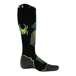 Spyder Explorer Ski Socks, Black-Amazon-Bryte Yellow, 256