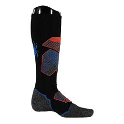 Spyder Explorer Ski Socks, Black-Burst-French Blue, 256