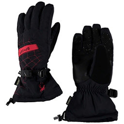 Spyder Overweb Gore-Tex Gloves, Black-Red, 256