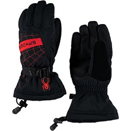 Spyder Overweb Kids Gloves, Black-Red, 256
