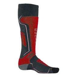 Spyder Sport Merino Kids Ski Socks, Polar-Red-White, 256
