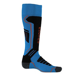 Spyder Sport Merino Kids Ski Socks, French Blue-Black-Burst, 256