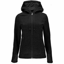 Spyder Endure Novelty Hoody Midweight Stryke Fleece Womens Sweater, Black-Black, 256