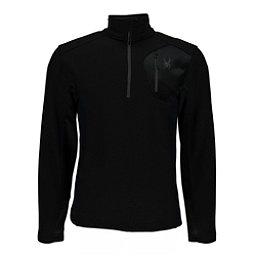 Spyder Bandit Half Zip Mens Sweater, Black-Black, 256