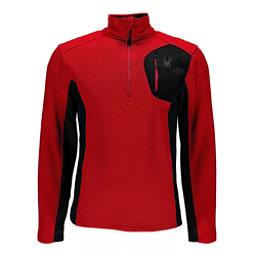 Spyder Bandit Half Zip Mens Sweater, Red-Black, 256