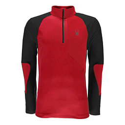 Spyder Charger Thermastretch Mens Mid Layer, Red-Black, 256
