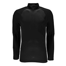 Spyder Charger Thermastretch Mens Mid Layer, Black-Black, 256