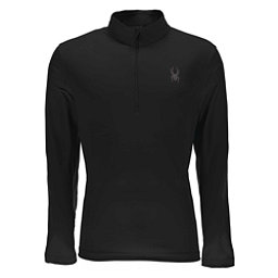 Spyder Limitless Quarter Zip DryWEB Mens Mid Layer, Black, 256