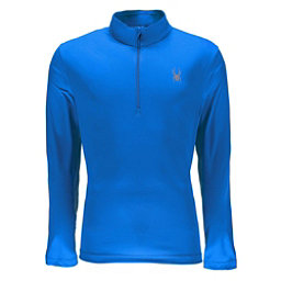 Spyder Limitless Quarter Zip DryWEB Mens Mid Layer, French Blue, 256