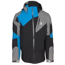 Spyder Leader Mens Insulated Ski Jacket, Black-Polar Herringbone, 256