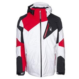 Spyder Leader Mens Insulated Ski Jacket, White-Black, 256