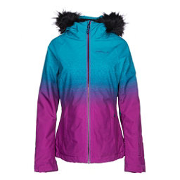 O'Neill Curve w/Faux Fur Womens Insulated Ski Jacket, Pink Aop, 256