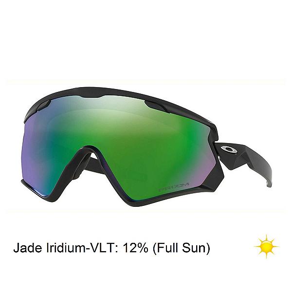 Oakley Wind Jacket 2.0 Prizm Goggles 2018, Matte Black-Prizm Snow Jade Iridium, 600