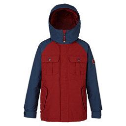 Burton Fray Boys Snowboard Jacket, Fired Brick-Mood Indigo, 256