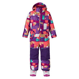 Burton Minishred Illusion Toddler Girls One Piece Ski Suit, Paper Animals, 256