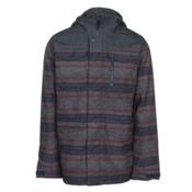 Burton Covert Mens Insulated Snowboard Jacket, Denim-Faded Motor City Print, medium