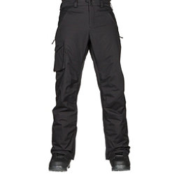 Burton Covert Insulated Mens Snowboard Pants, True Black, 256