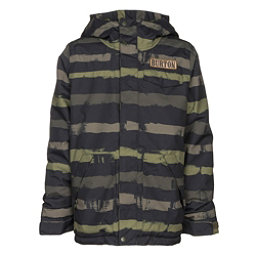 Burton Dugout Boys Snowboard Jacket, Olive Branch Mean Streak-True, 256