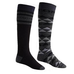 Burton Weekend 2 Pack Snowboard Socks, True Black, 256