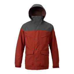 Burton Breach Mens Shell Snowboard Jacket, Fired Brick-Faded, 256