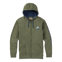 Burton Ripton Full Zip Mens Hoodie, Dusty Olive, 256