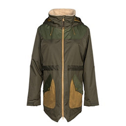 Burton Prowess Womens Insulated Snowboard Jacket, Forest Night-Rifle Green, 256