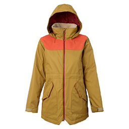 Burton Prowess Womens Insulated Snowboard Jacket, Plantation-Persimmon, 256