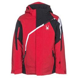 Spyder Challenger Boys Ski Jacket, Red-Black-White, 256