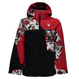 Spyder Ambush Boys Ski Jacket, Black-White Mini Camo Print-Re, 256