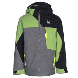 Spyder Ambush Boys Ski Jacket, Polar Herringbone-Fresh-Black, 256