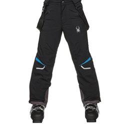 Spyder Force Kids Ski Pants, Black-French Blue, 256