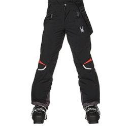 Spyder Force Kids Ski Pants, Black-Burst, 256