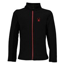 Spyder Constant Full Zip Kids Sweater, Black-Red, 256