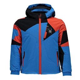Spyder Mini Leader Toddler Ski Jacket, French Blue-Black-Burst, 256