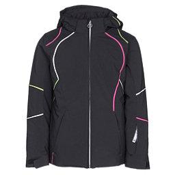 Spyder Tresh Girls Ski Jacket, Black-White-Fresh, 256