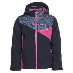 Spyder Project Girls Ski Jacket, Frontier-Baltic Geo Print-Rasp, 256