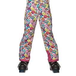 Spyder Mimi Girls Ski Pants, White Large Ditz Print, 256