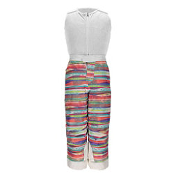 Spyder Bitsy Sparkle Toddler Girls Ski Pants, Multi Splatter Print-White, 256