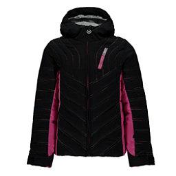Spyder Hottie Girls Ski Jacket, Black-Raspberry, 256