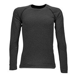 Spyder Cheer Girls Long Underwear Top, Black, 256