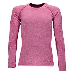 Spyder Cheer Girls Long Underwear Top, Raspberry, 256