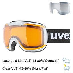 Uvex Downhill 2000 S Race Goggles 2018, White Matte-Lasergold Lite + Bonus Lens, 256