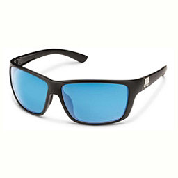 SunCloud Councilman Sunglasses, Matte Black-Blue Mirror Polarized, 256