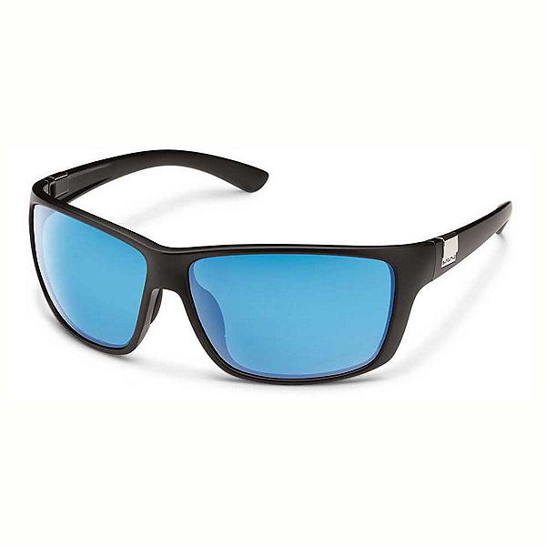SunCloud Councilman Sunglasses, Matte Black-Blue Mirror Polarized, 600